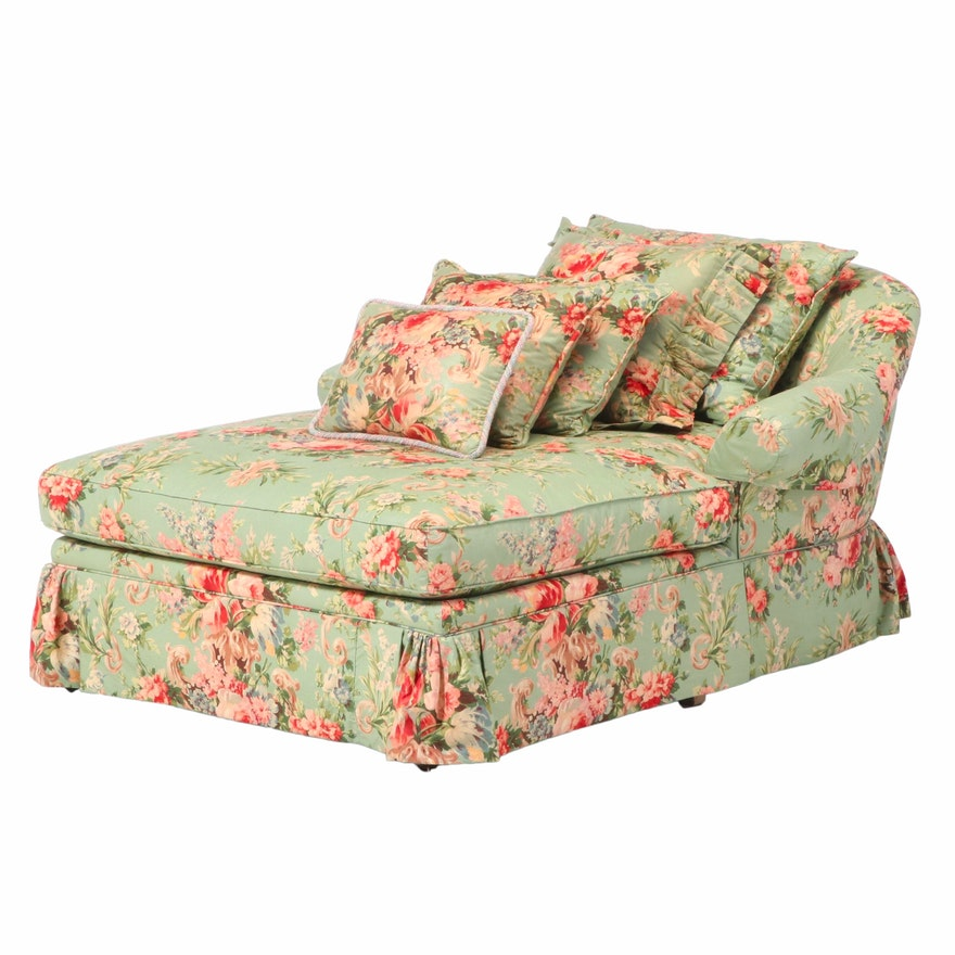 Pearson Furniture Floral-Upholstered Chaise Lounge