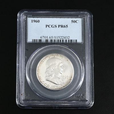 PCGS PR65 1960 Proof Franklin Silver Half Dollar