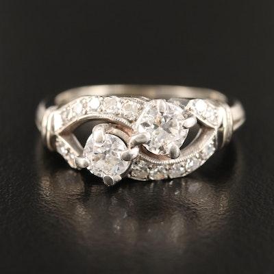 Late 1930s 14K Diamond Ring