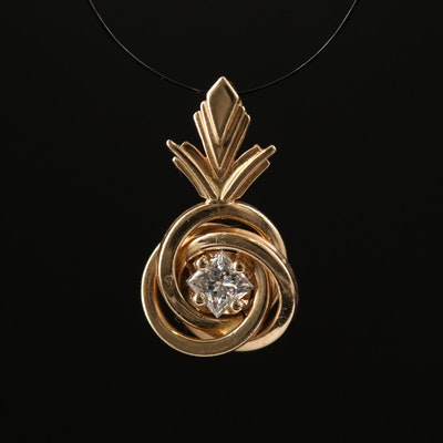 14K Diamond Knot Pendant