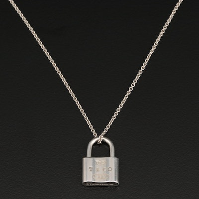"Tiffany & Co. ""1837"" Sterling Silver Padlock Necklace"