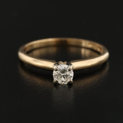 14K 0.24 CT Diamond Ring