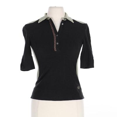 Fendi Selleria Color Block Polo Shirt