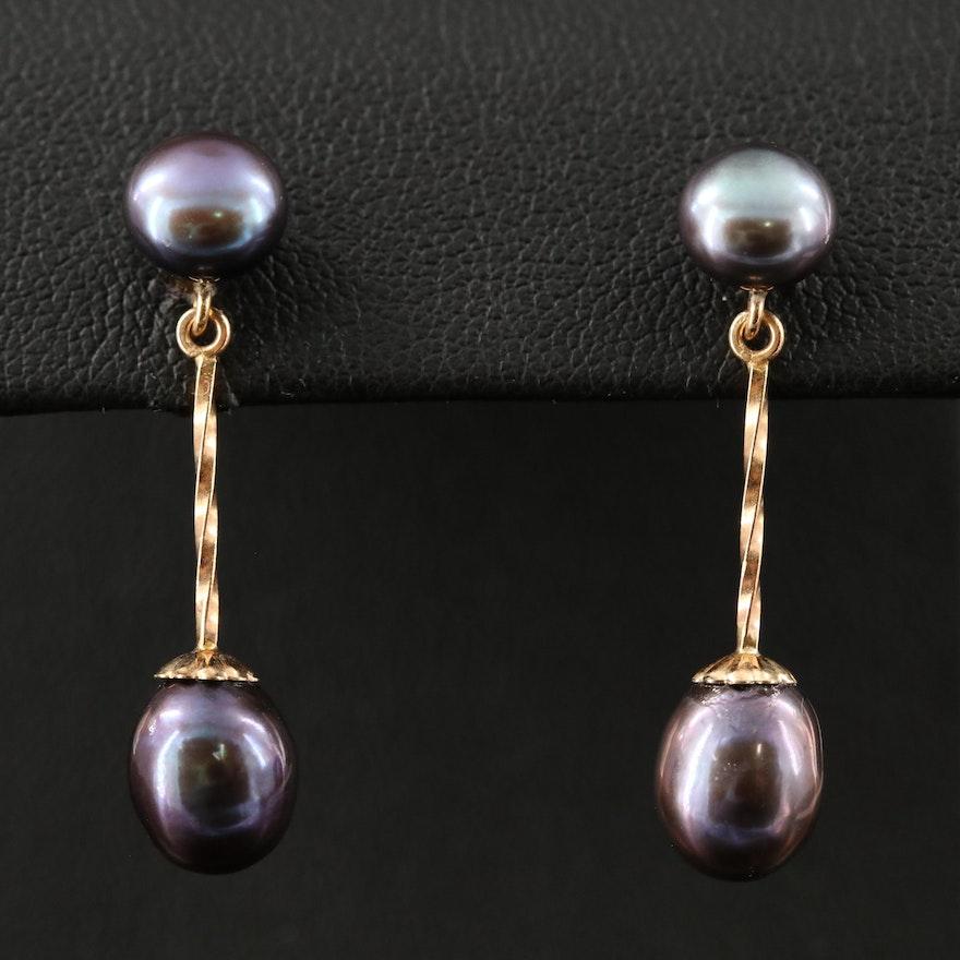 14K Pearl Earrings