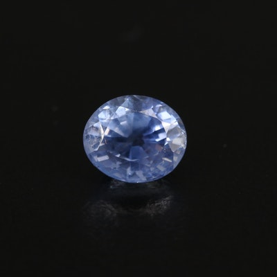 Loose 1.51 CT Unheated Sri Lankan Sapphire with GIA Report