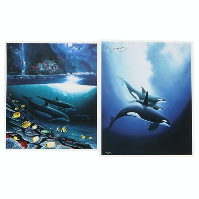 Offset Lithographs after Robert Wyland of Marine Wildlife