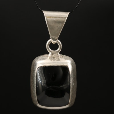 Mexican Sterling Silver Glass Pendant
