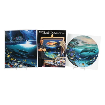"""Robert Wyland  Offset Lithographs and """"Artist of the Sea"""" Book"""