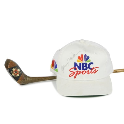 "Johnny Miller Signed ""NBC Sports"" Hat and Gene Sarazen Endorsed Wilson Golf Club"