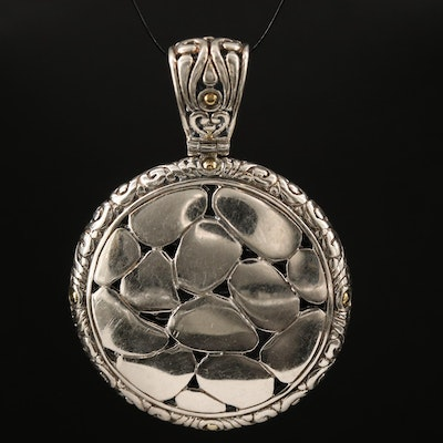 """EFFY """"Balissima"""" Sterling Pebble Pendant with 18K Accents"""