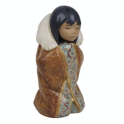 """Lladró """"Arctic Winter"""" Porcelain Figurine Designed by Francisco Català"""