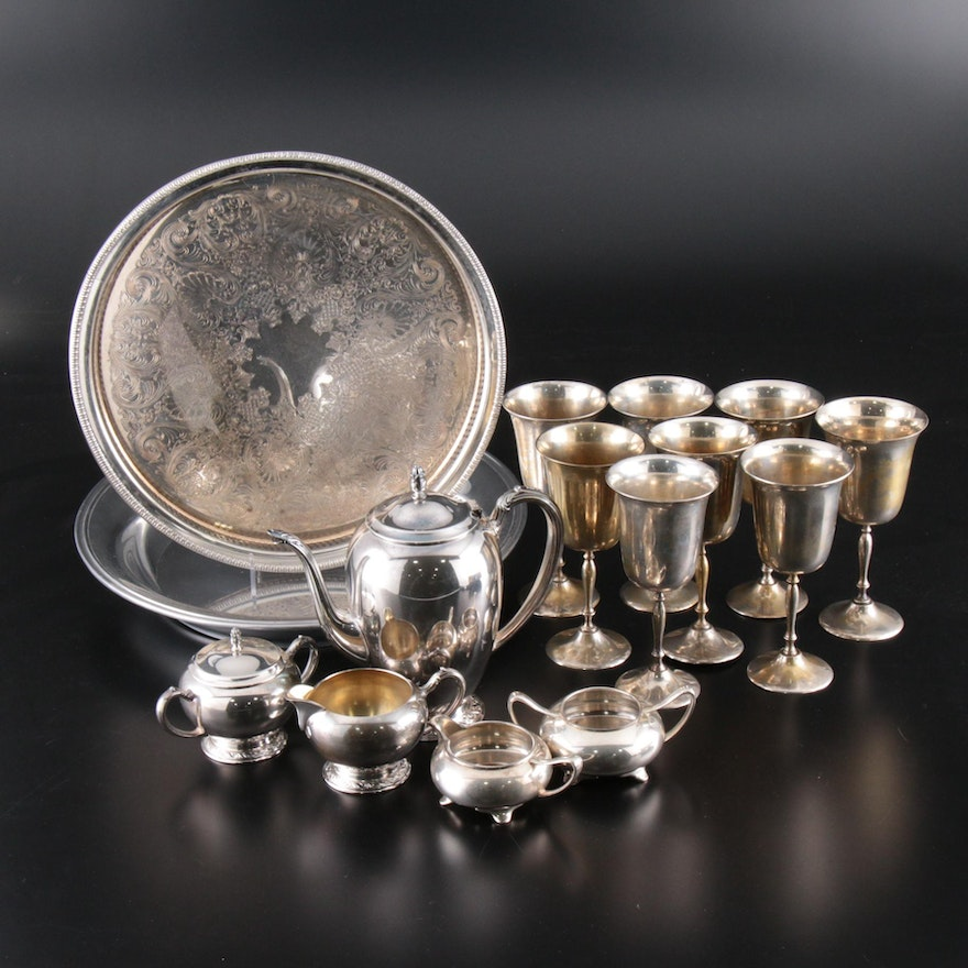Reed & Barton Silver Plate Tray and Silver Plate Serveware