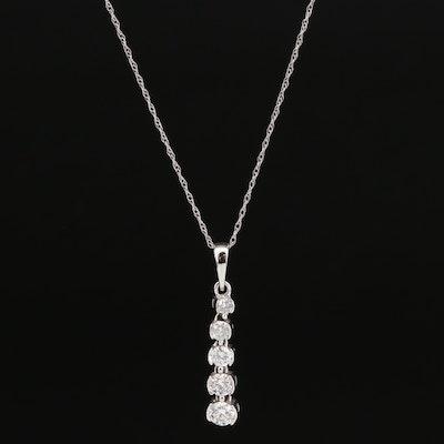 10K and 14K Diamond Journey Necklace