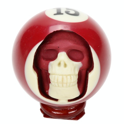 Billiard Ball Skull Carving