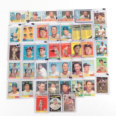 1950s, 1960s Baseball Trading Cards Including Matty Alou Rookie and E. Howard