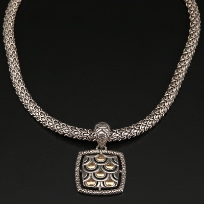 """John Hardy """"Naga"""" Sterling Necklace with 18K Accents"""
