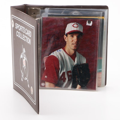 Former Cincinnati Reds Signed Player Photo Prints Including Kearns and Helms