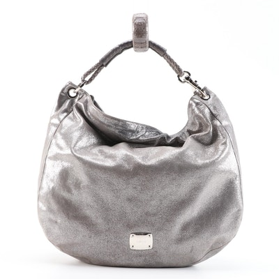 Jimmy Choo Metallic Solar Hobo Bag