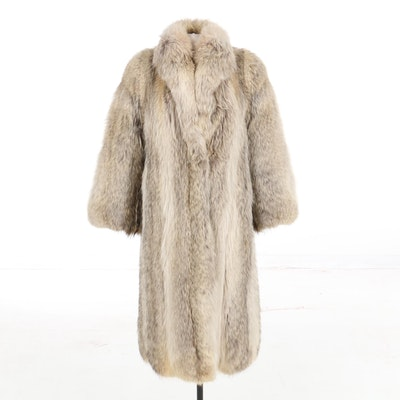 Fox Fur Full-Length Coat