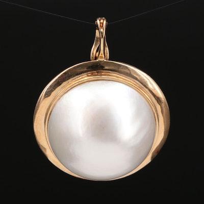 14K Mabé Pearl Enhancer Pendant