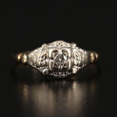 Art Deco Karlan & Bleicher Inc. 14K Diamond Ring