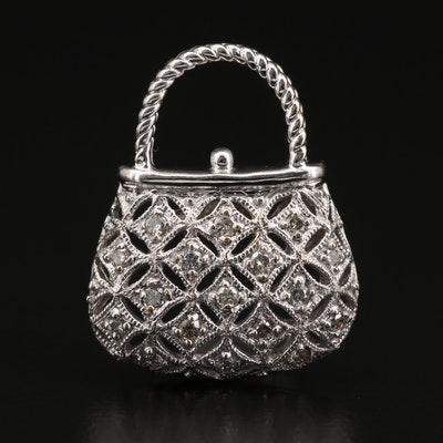 10K Diamond Purse Pendant