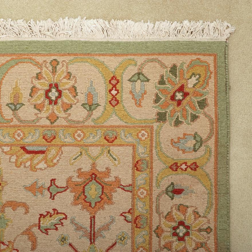 "5'.5 x 8'4.5 Handwoven Masland Soumak Collection ""Mahal"" Wool Rug"