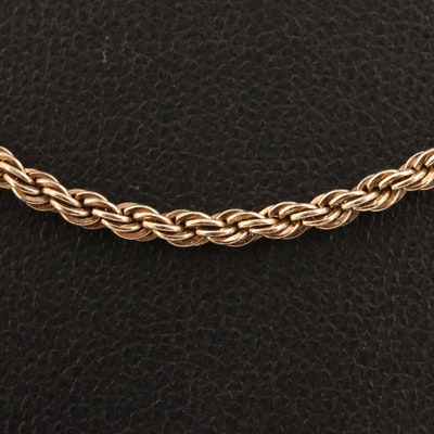 Sterling Rope Link Chain