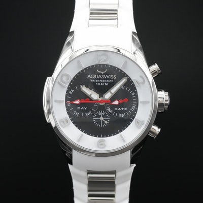 Aquaswiss Trax 5H Day - Date Stainless Steel Quartz Wristwatch