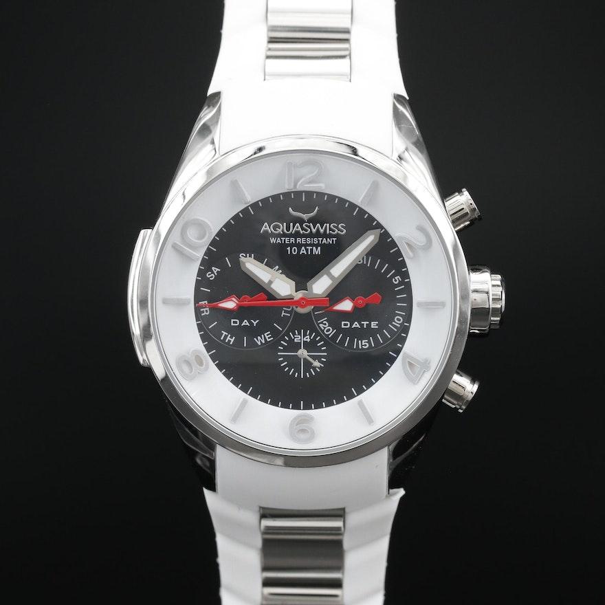 Aquaswiss Trax 5H Day - Date Stainless Steel Quartz Wristwatch