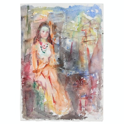 Murat Kaboulov Watercolor Figure Painting