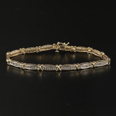 10K 1.10 CTW Diamond Line Bracelet