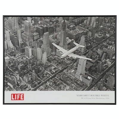 "Offset Poster After Margaret Bourke-White ""DC-4 Flying Over Manhattan"""
