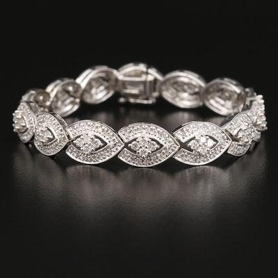 14K 2.64 CTW Diamond Navette Link Bracelet