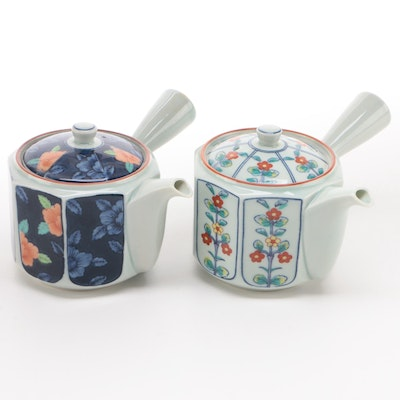Japanese Ceramic Side Handle Teapots with Strainer