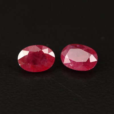Loose 2.33 CTW Matched Pair of Rubies