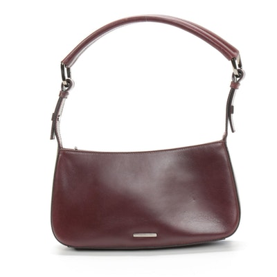 Gucci Burgundy Leather Shoulder Bag