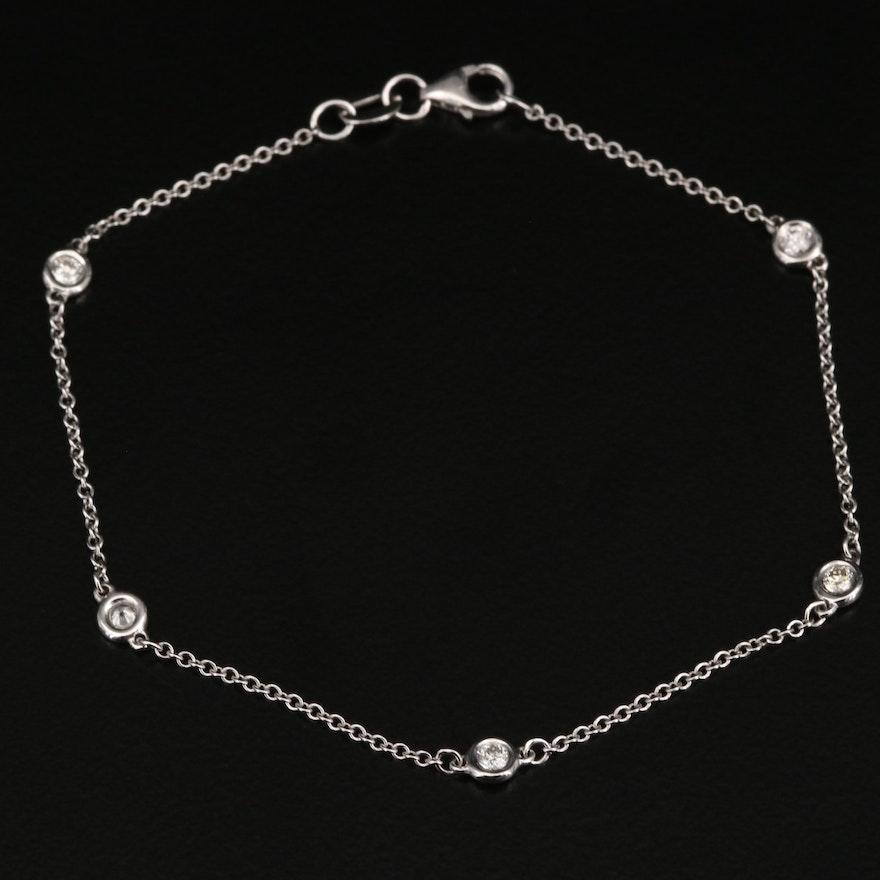 14K Diamond Station Bracelet