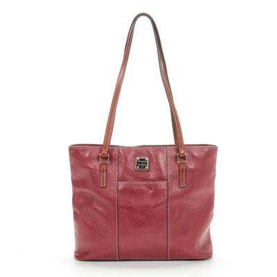 Dooney & Bourke Red Pebbled Leather Shoulder Bag