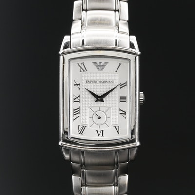 Emporio Armani Stainless Steel Quartz Wristwatch