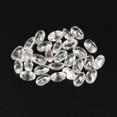 Loose 10.72 CTW Oval Faceted Zircon