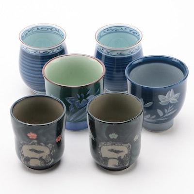 Japanese Glazed Porcelain Teacups