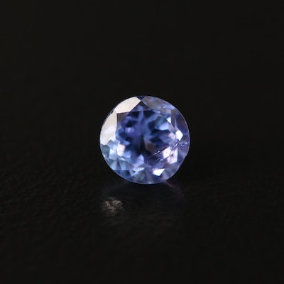 Loose 0.75 CT Round Faceted Tanzanite