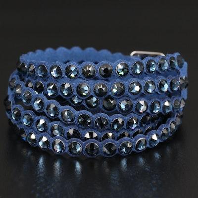 Swarovski Glass Buckle Wrap Bracelet