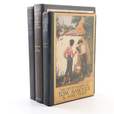 "N. C. Wyeth Illustrated ""David Balfour"" by Stevenson with Other Children's Books"