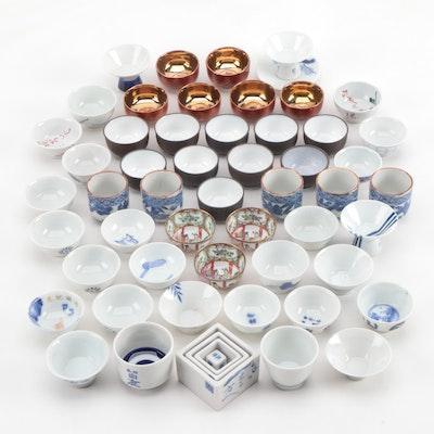 Japanese Porcelain Sake Cups and Sake Drinking Game