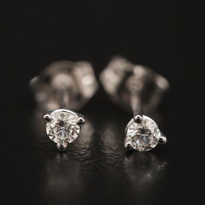 14K Gold 0 09 CTW Diamond Stud Earrings