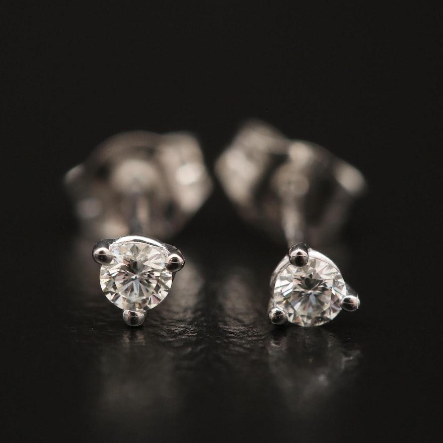 14K Gold 0 09 CTW Diamond Stud Earrings