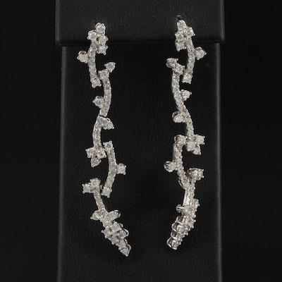 18K 1.51 CTW Diamond Dangle Earrings