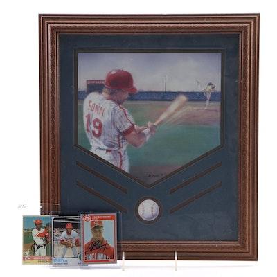 DeSantis Baseball Print, Hand-Signed Baseball Cards